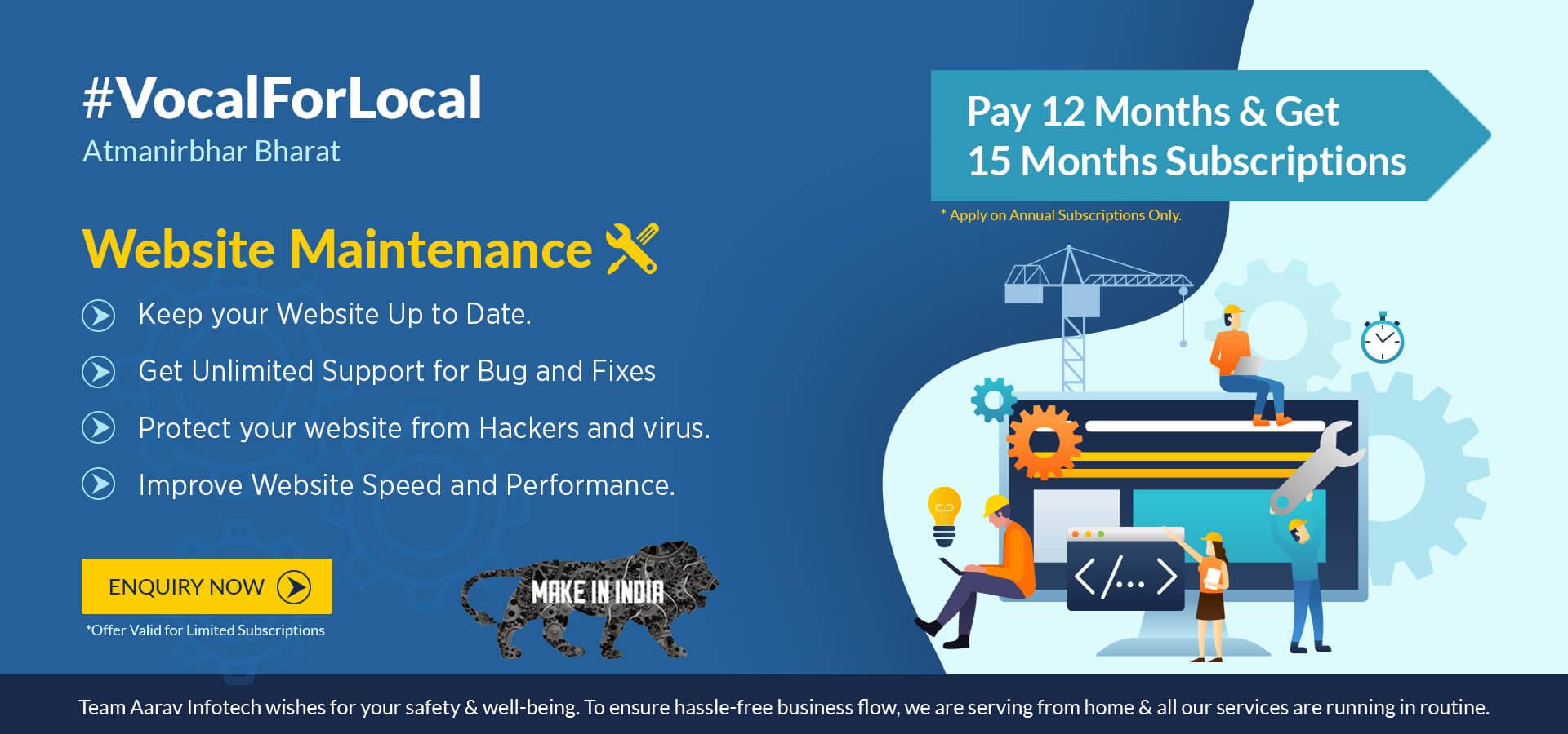 Website Maintenance Offer